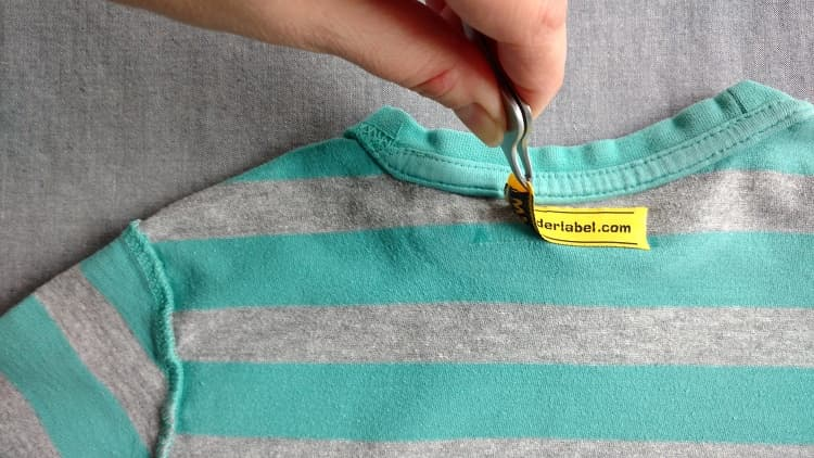 How to Remove an Iron On Label