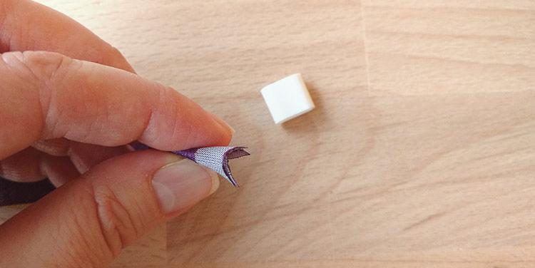 Gewebte Armbändchen mit Gleitverschluss verwenden