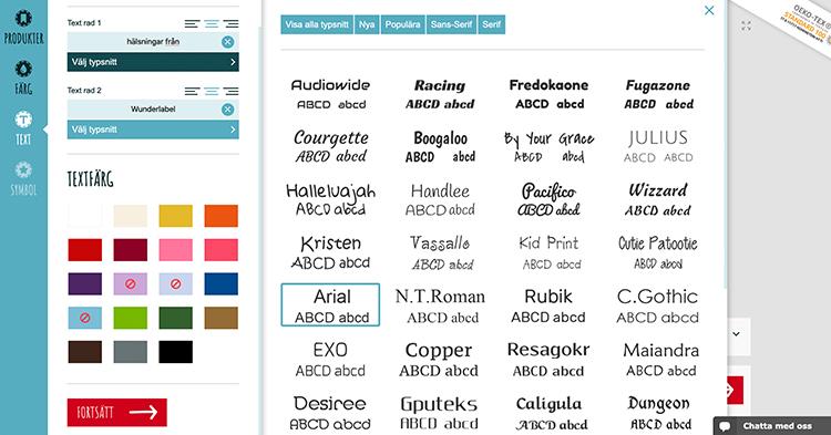 Skapa dina egna klistermärken med Wunderlabels designverktyg online