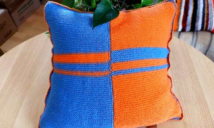 DIY knitting tutorial: How to knit a pillow slip