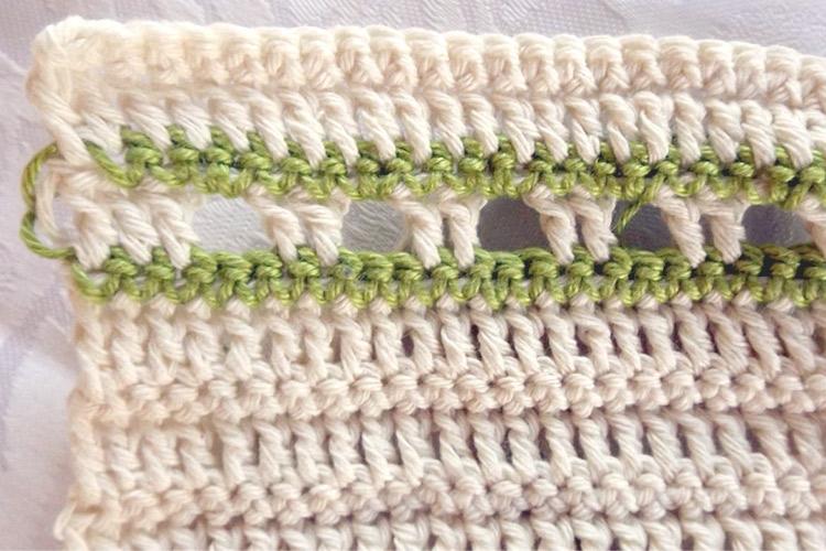Patrón de ganchillo gratis: mantel individual con bolsillo para cubiertos