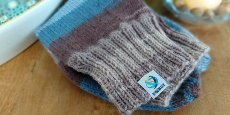 How to knit socks - Sew on label Wunderlabel
