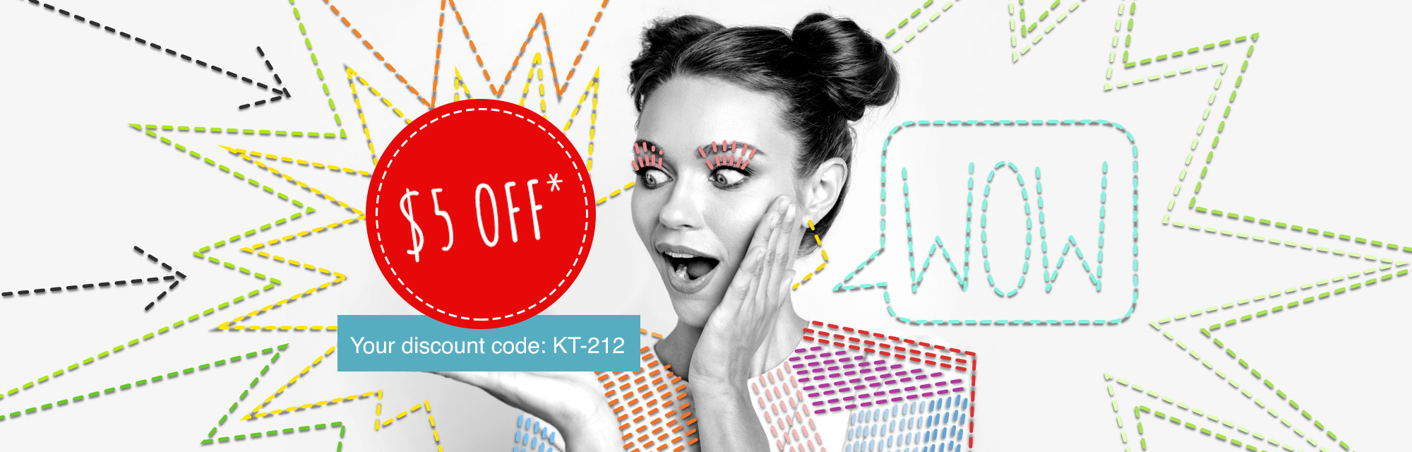 Your $5 discount voucher is waiting for you!